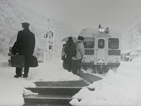 昭和60年頃の大糸線平岩駅