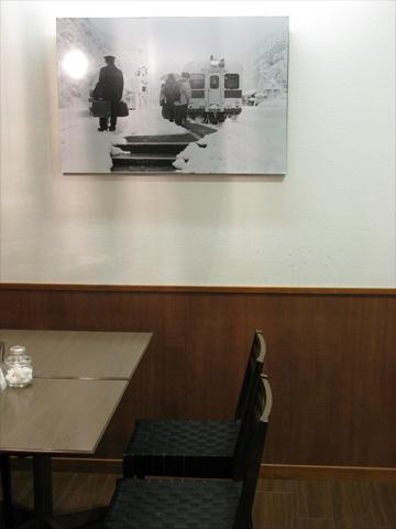 喫茶に飾る大糸線