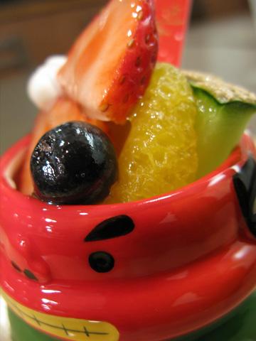 正月アラモードの新鮮フルーツ