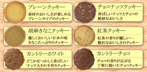 米粉入りのクッキーの説明