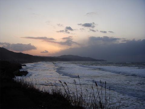 夕焼け空と日本海