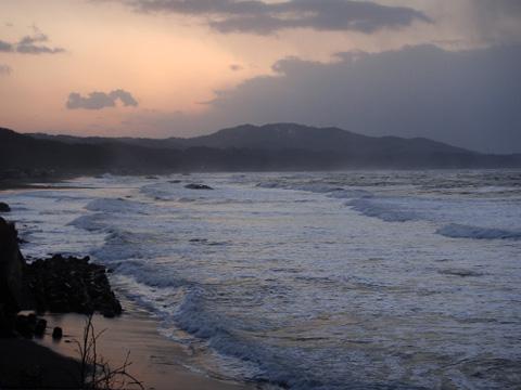 日本海と夕焼け2