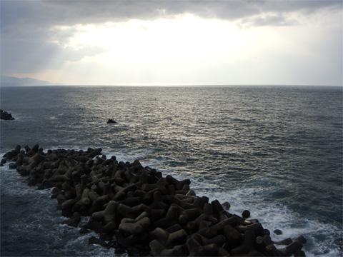弁天岩からの日本海