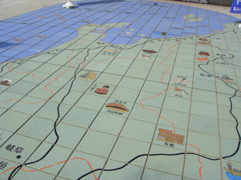 地図の敷き絵