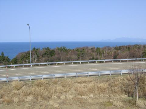 名立谷浜パーキングの上から1