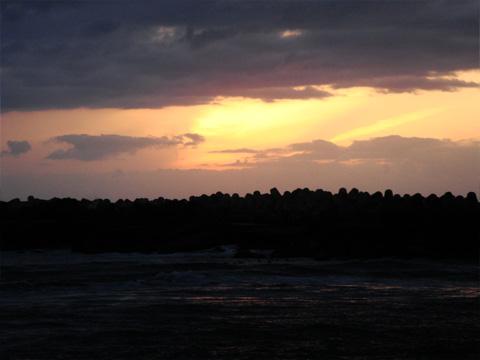 濃い夕焼け空