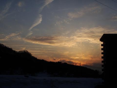 早川の夕日