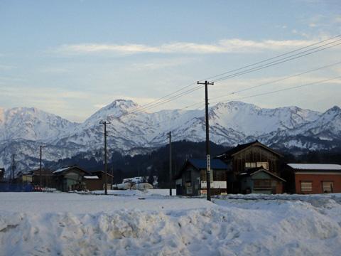 早川の山々