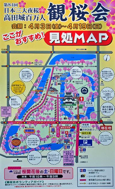 高田公園の桜の花見看板