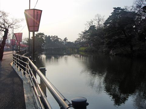 高田公園周りのお堀