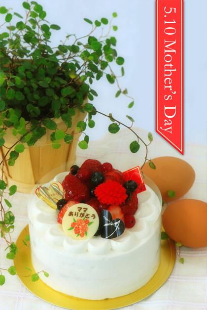 母の日デコレーションケーキ1