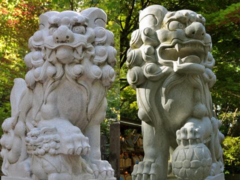 春日山神社の狛犬