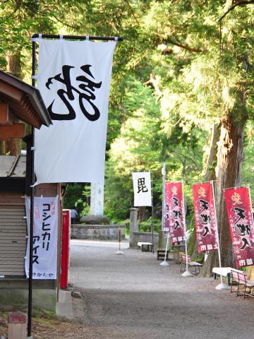 春日山神社に到着