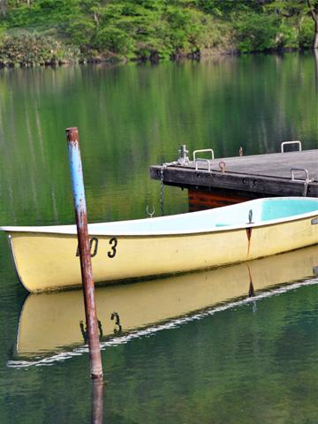 高浪の池のボート1