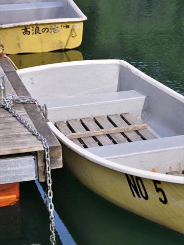 高浪の池のボート2
