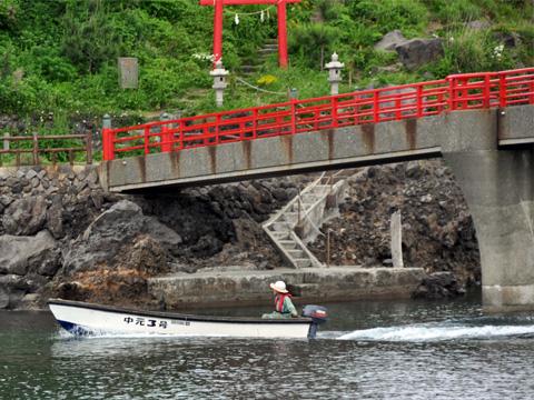 曙橋とボート