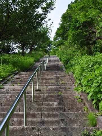 能生・新道山公園の石段