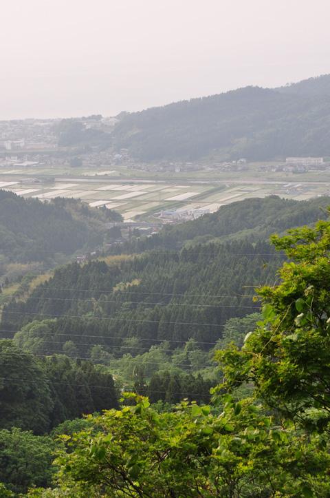 能生・新道山、三の越からの能生町