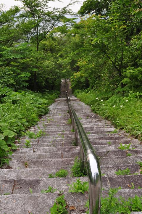 能生新道山公園の下り