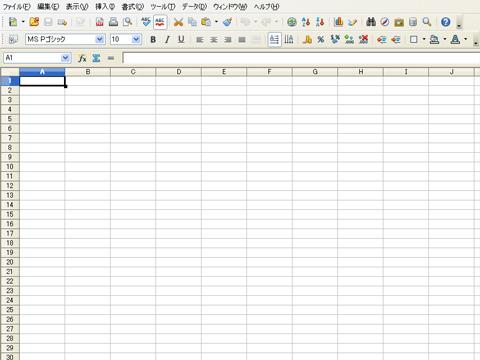 OpenOfficeのCalc