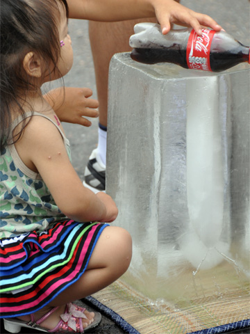エキカモの氷柱