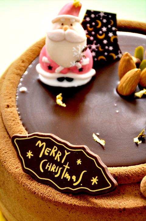 クリスマスケーキ・チョコとナッツでクリスマス1