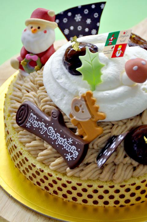 クリスマスケーキ・マロンフォレスト1