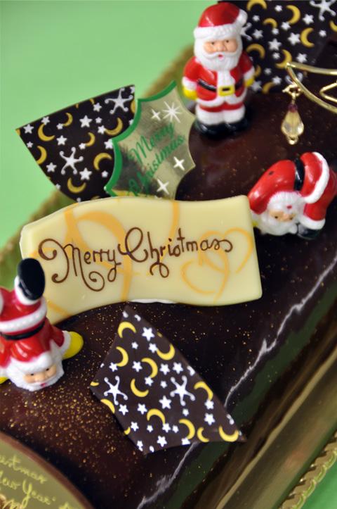 クリスマスケーキ・ショコラノエル1