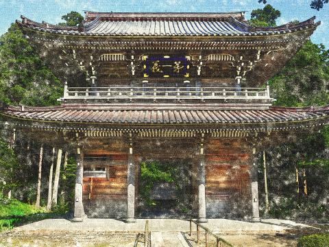GIMPで描く林泉寺