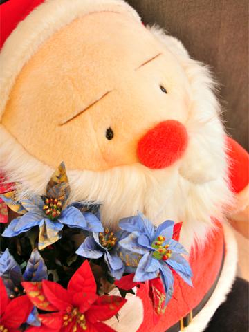 サンタクロースのお出迎え