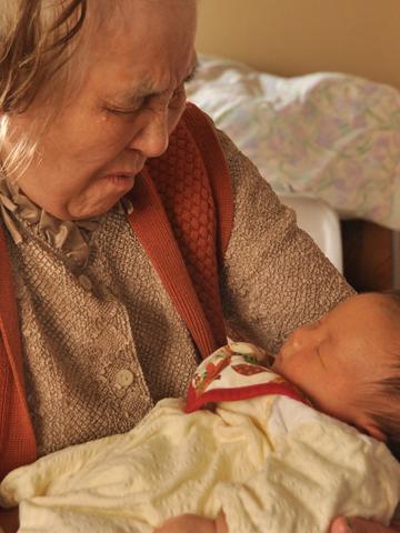 おばあちゃんと息子2