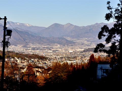 北向観音から見た上田市街地