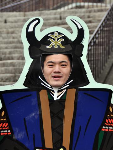 高島城で記念写真
