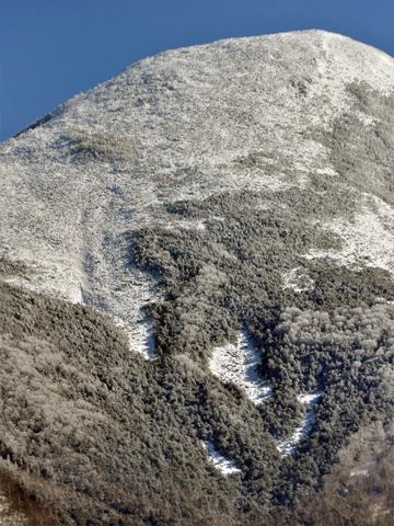 白樺湖からみた雪山