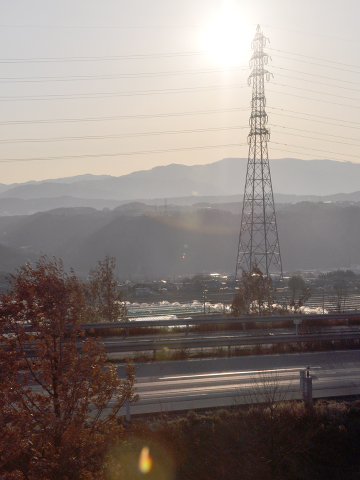 長野の夕焼け空