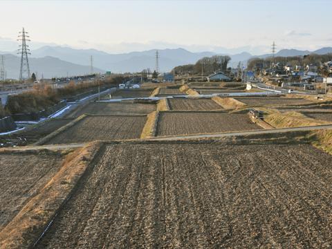 長野の田畑