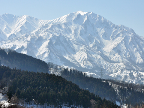 能生・高倉の雪山