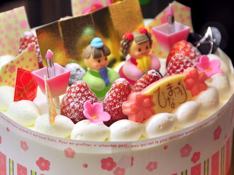 ひな祭りデコレーションケーキ