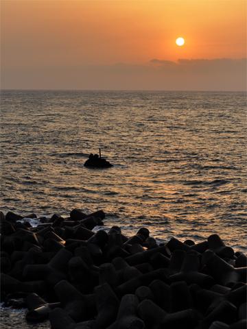 弁天岩頂上からの夕焼け