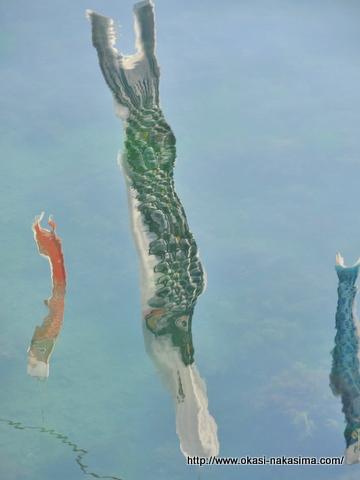 海に泳ぐ鯉のぼり