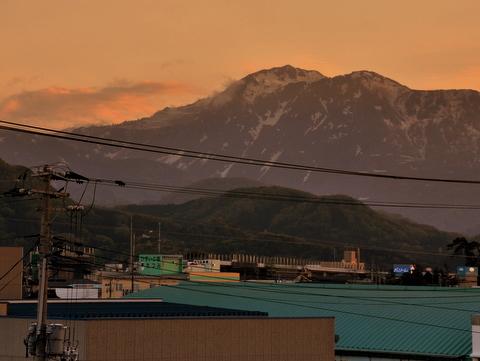 夕焼けの糸魚川