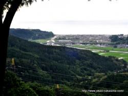 能生・神道山公園から見た能生町
