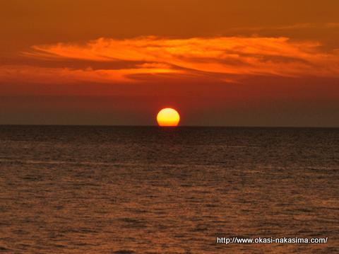 糸魚川の夕日