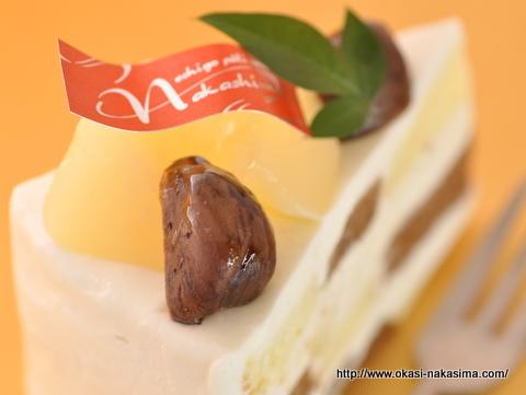 ル・レクチェと栗の秋色ショートケーキ
