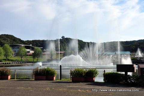 音と水の噴水