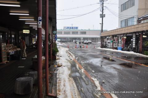 あんこう祭り当日の糸魚川駅前