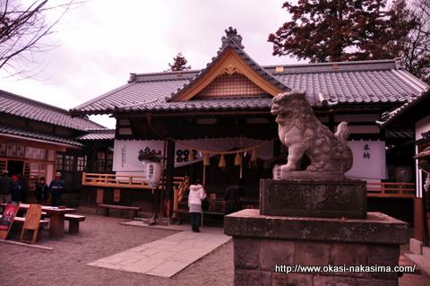 狛犬と真田神社