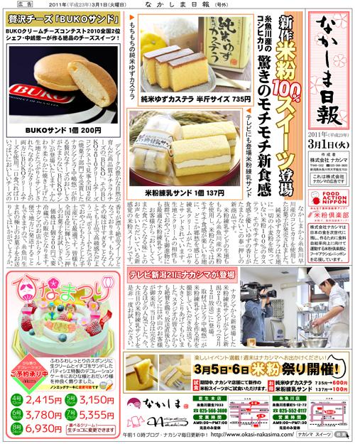 平成23年3月1日ナカシマ折込広告
