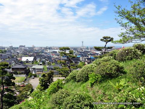 月華山かねこつつじ園さんからの糸魚川の街並み