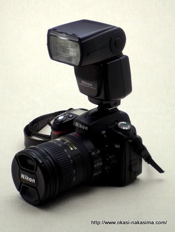 SB-700を装着したD90